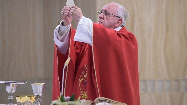 Papa Francisco na Missa na Santa Marta  (Vatican Media)