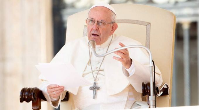 Papa durante a Audiência Geral. Foto: Daniel Ibáñez / ACI Prensa