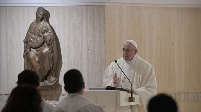 Papa Francisco na Missada Casa Santa Marta. Foto: Vatican Media