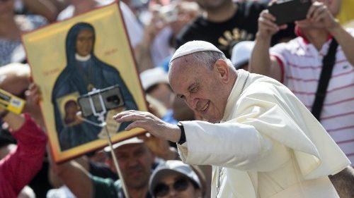 Papa na audiência