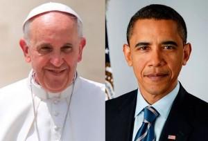 O Papa Francisco receberá Obama no dia 27 de março