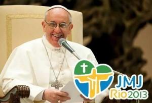 """Os Brasileiros """"roubaram"""" meu coração, disse o Papa Francisco"""