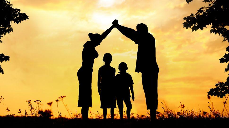 Oração família sol se pondo