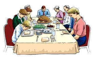 oração antes das refeições
