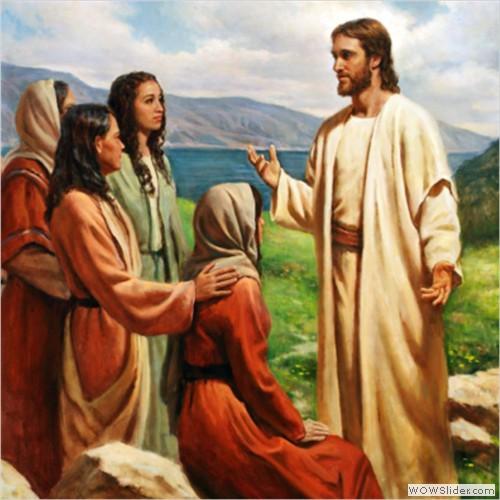 Resultado de imagem para Jesus e as mulheres do evangelho