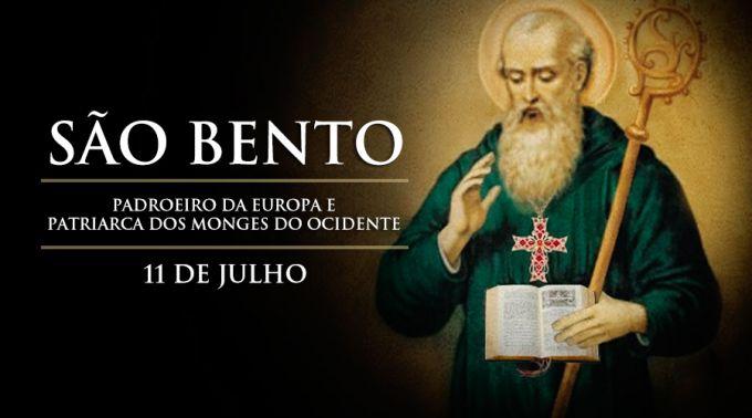 Hoje é festa de São Bento, padroeiro da Europa e patriarca dos monges do Ocidente