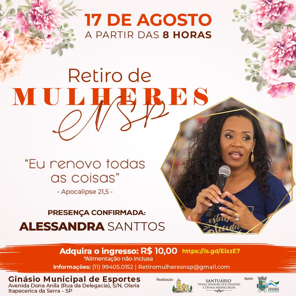 Alessandra Santos estará no Retiro das Mulheres NSP