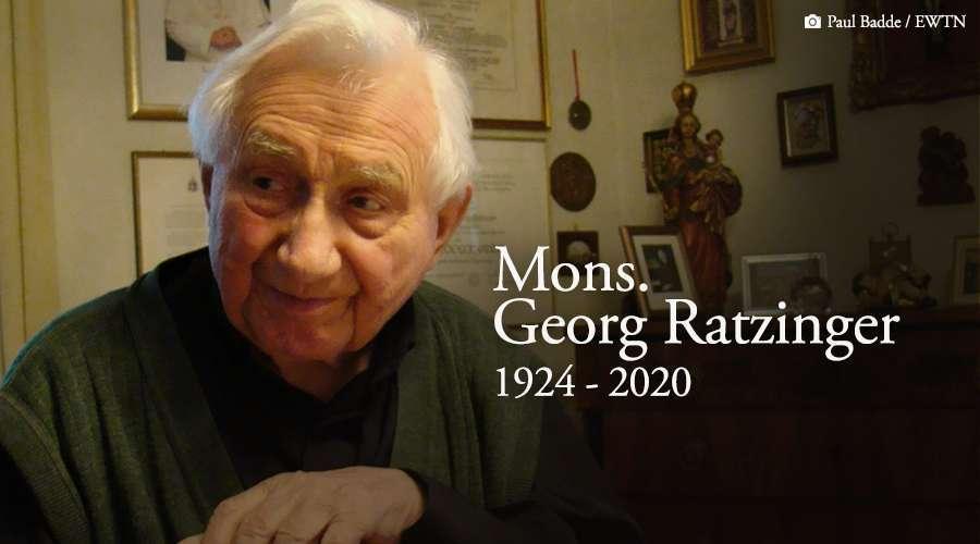 Monsenhor Georg Ratzinger, irmão de Bento XVI, faleceu hoje na Alemanha