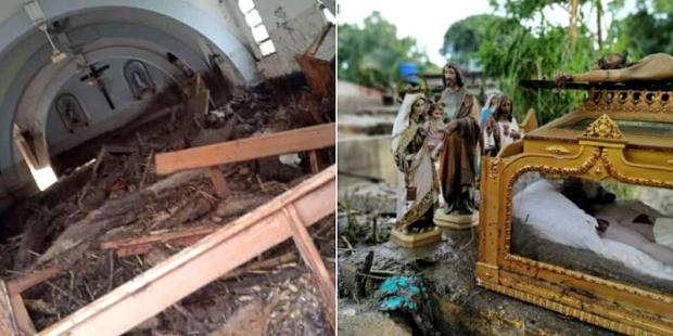 Enchente destrói capela, mas deixa imagem do Santo Sepulcro intacta na Venezuela