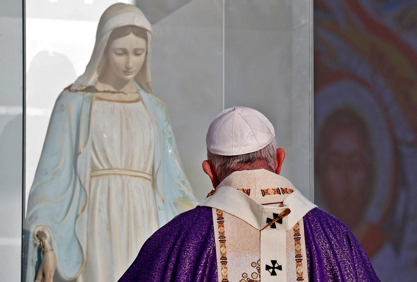 Frases inspiradoras do Papa Francisco sobre Maria